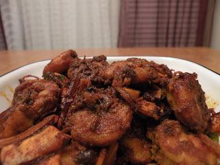 Chemmeen Ulathiyathu (Shrimp Dry Roast )