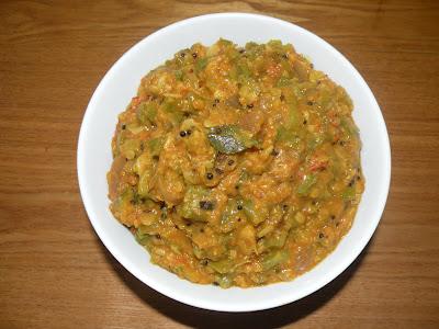 Ridge Gourd Dal Curry