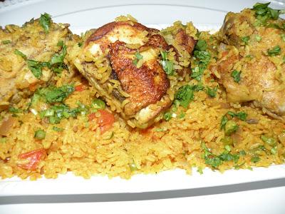 Arroz Con Pollo ( Chicken & Rice ) Classic Spanish Dish