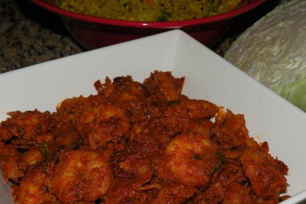 Easy Shrimp Ularthiyathu/Roast