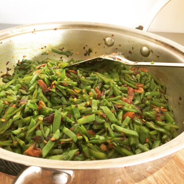 Stir Fried Sugar Snap Peas with Dried Shrimp