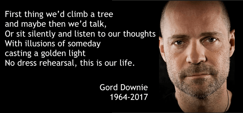 Lessons from Gord Downie