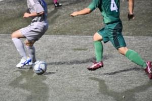 サッカーの試合の画像