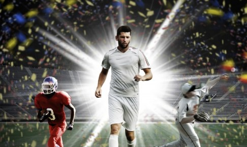 サッカー選手のドリブル画像