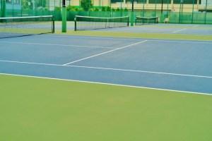 テニスコートの画像