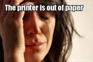 Out of Paper