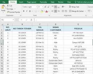 Cara Print Excel