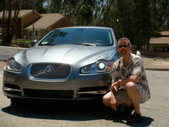 Image of me and my 2009 Jaguar XF