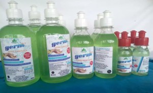 Hand sanitizer manufactured by GreenJuniper Enterprise
