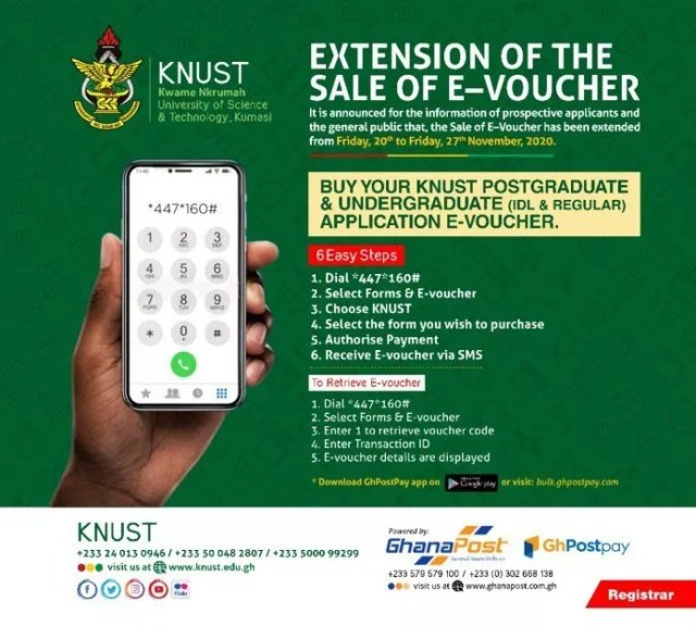 Just In: KNUST Extends Deadline For 2020-2021 Admissions