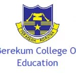 Berekum College of Education Admission Requirements