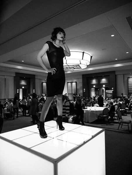 model at Imaging USA closing party photo