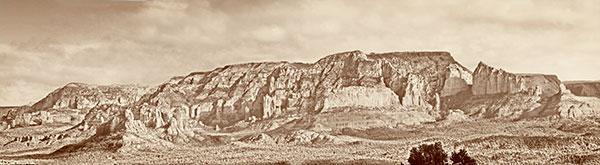sedona old time panorama image