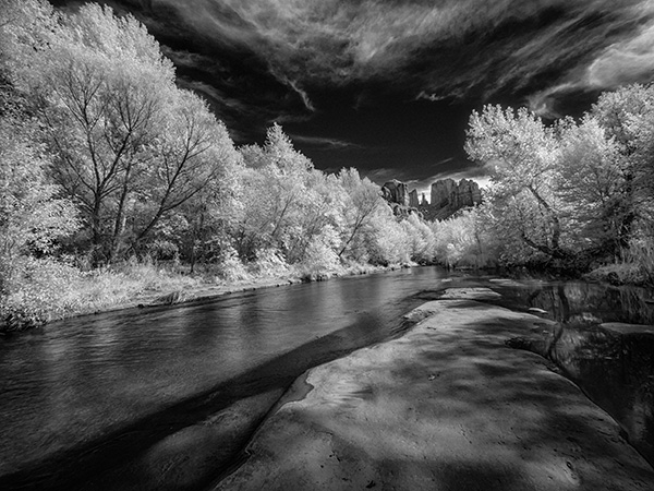 infrared photo cathedral rock sedona az