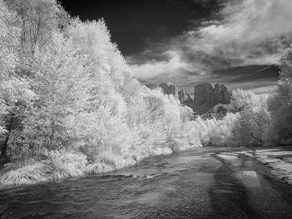 cathedral rock infrared photo
