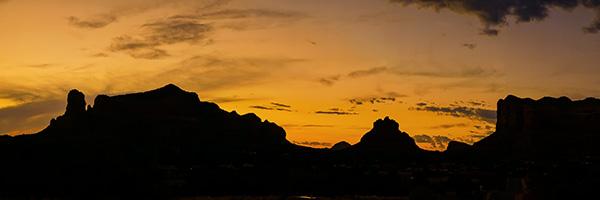 silhouette panorama photo