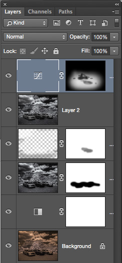 Adobe Photoshop Layers palette image