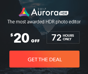 aurora HDR software discount banner