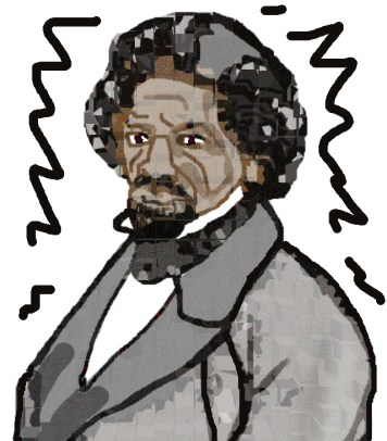 Frederick Douglas Rendering Reversed by Janice Celeste