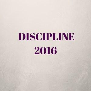 DISCIPLINE2016