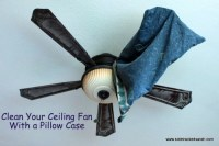 Clean Your Ceiling Fan Without Making a Mess