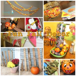 Fun Fall Decor with Lots of Littles