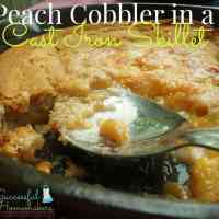 Peach Cobbler in a Cast Iron Skillet