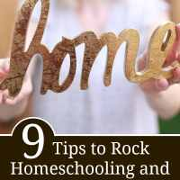 9 Tips to Rock Homeschooling and Housekeeping at the Same Time
