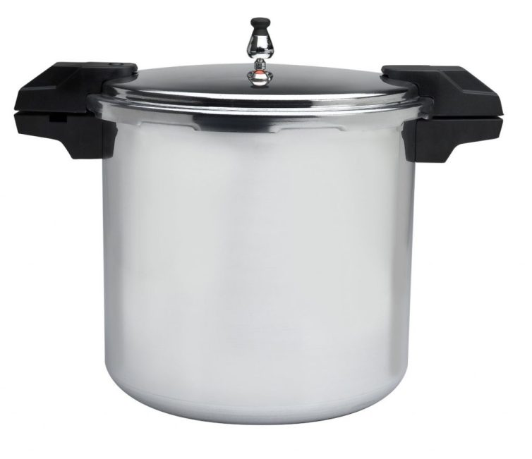 Mirro 92122A Polished Aluminum Pressure Cooker Cookware, 22-Quart, Silver