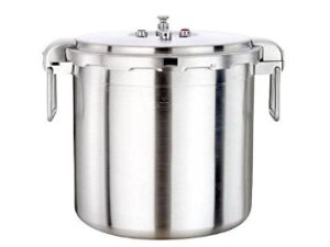 #2. The Buffalo Stainless Steel Commercial Series Pressure Cooker (32-Quart)