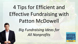 Common Fundraising Pitfalls and How You Can Avoid Them with Patton McDowell