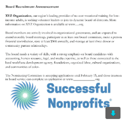 board recruitment Recruit the nonprofit board members you need with these 3 templates!