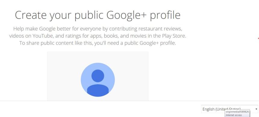 create google profile