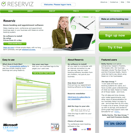 reserviz appointment and room booking