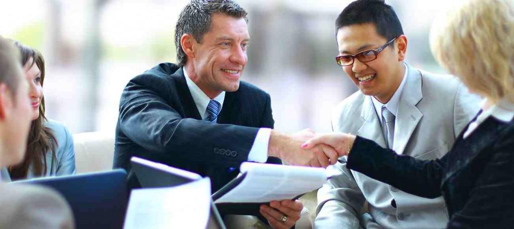 business negotiation between
