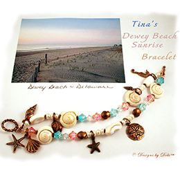 Designs by Debi - Interpretive Design Expert - Dewey Beach Sunrise Bracelet for Tina