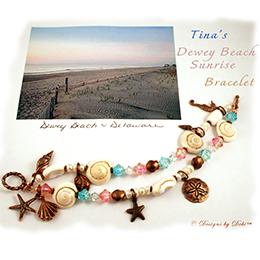 Designs by Debi - Interpretive Design Expert - Dewey Beach Sunrise Bracelet for Tina