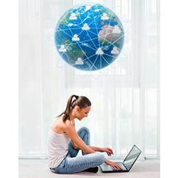 Friends Around the World Keeping in Touch Online
