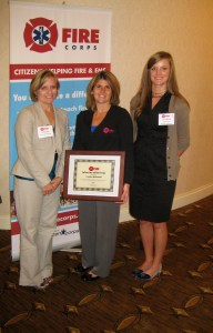 Candice McDonald is named National Fire Corps State Advocate of the Year by the National Volunteer Fire Council