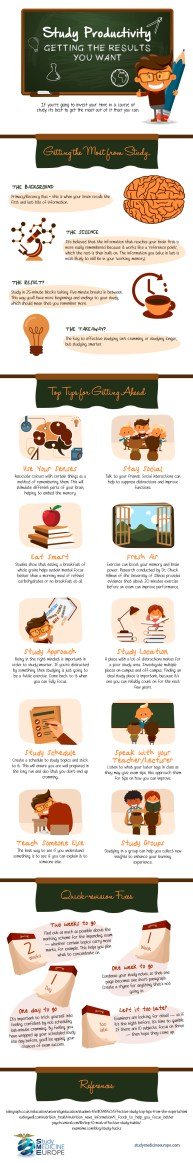 Smart Study techniques Infographic