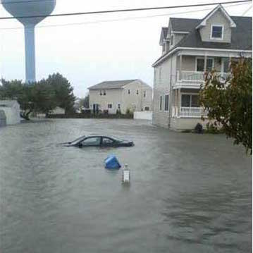 Brigantine Street Flooded