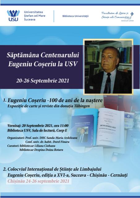 Săptămâna Eugeniu Coșeriu la USV