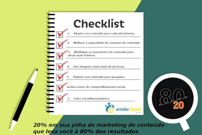 Aplicando a regra 80/20 no marketing de conteúdo