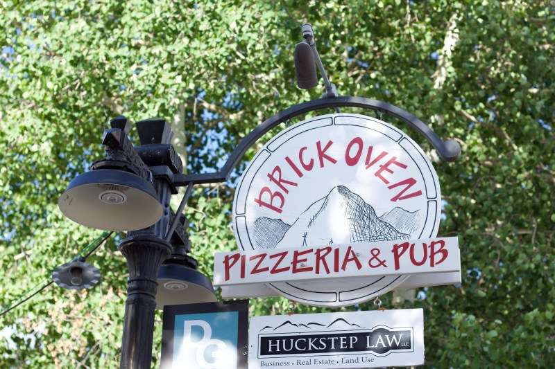 Brick Oven Pizza restaurant in downtown Crested Butte.