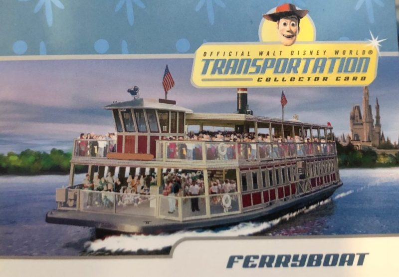 Ferry transportation card at Walt Disney World.