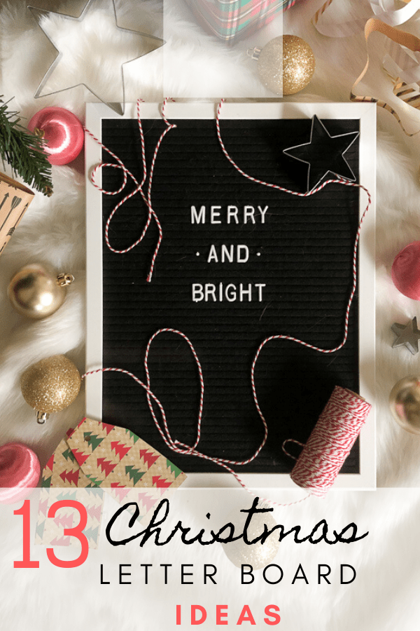 13 Christmas Letter Board quote ideas pin.