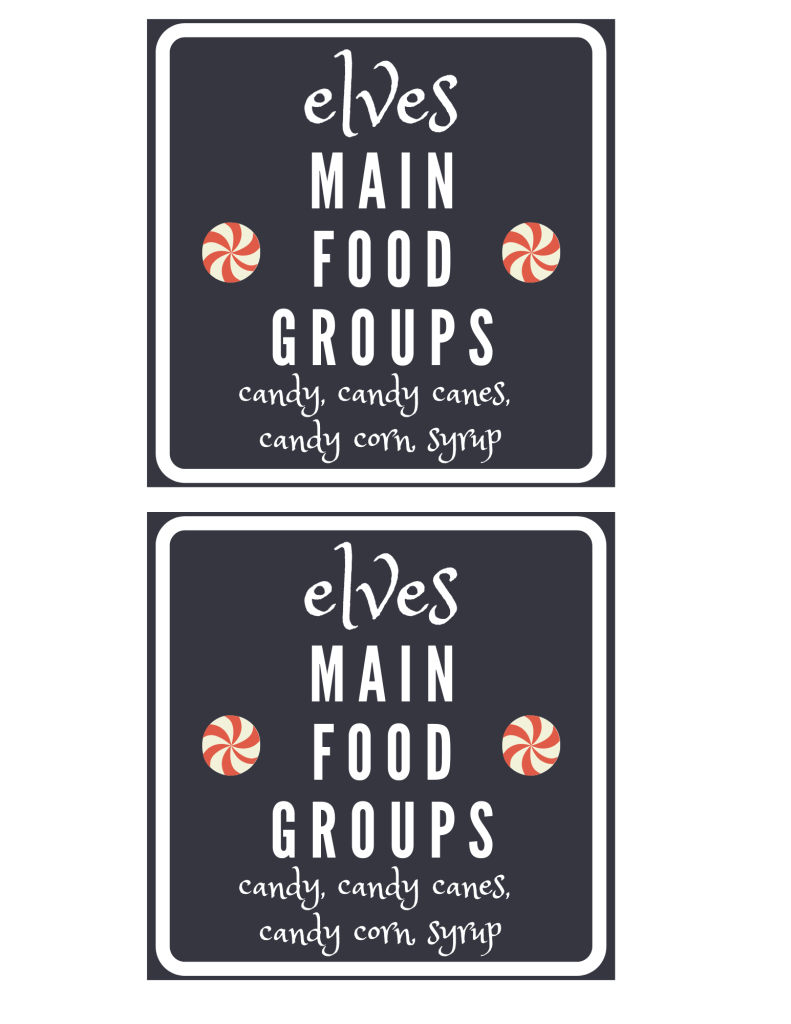 Elves Main Food Groups.