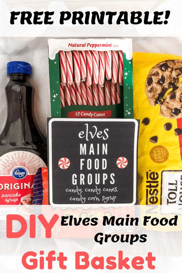 DIY Elves Main Food Groups Gift Basket.