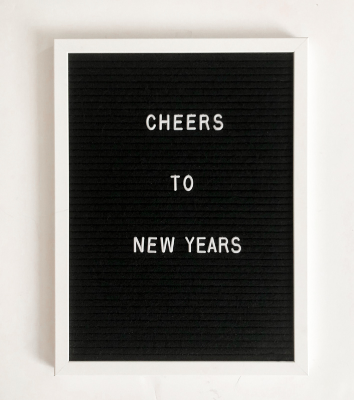 Cheers to New Years. January Letterboard Quotes