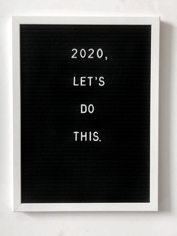 2020, Let's Do This. New Year Letterboard Quote
